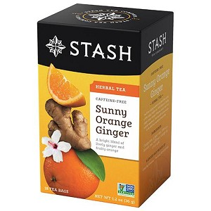 Sunny Orange Ginger Herbal Tea